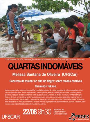 Quartas Indomáveis – Melissa Santana de Oliveira (UFSCar)