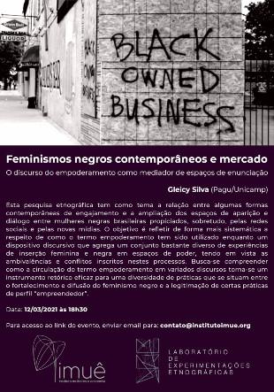 LE-E convida para palestra de Gleicy Silva (Pagu/Unicamp)